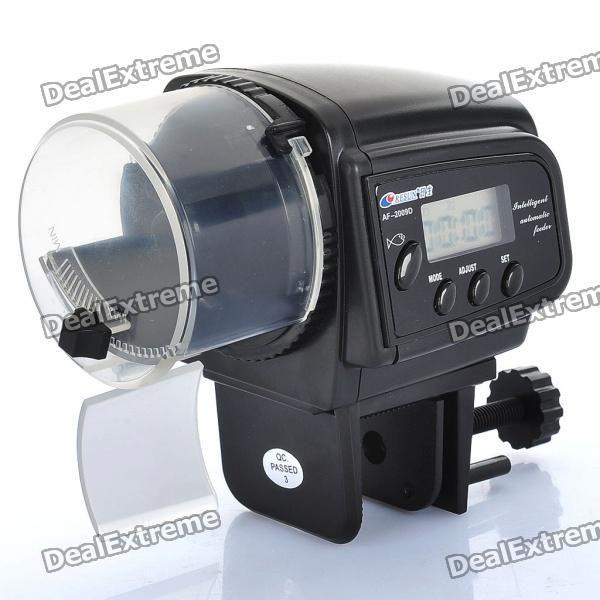 "AF-2009D 1.1"" LCD Automatic Aquarium Fish Feeder (2 x AAA)"
