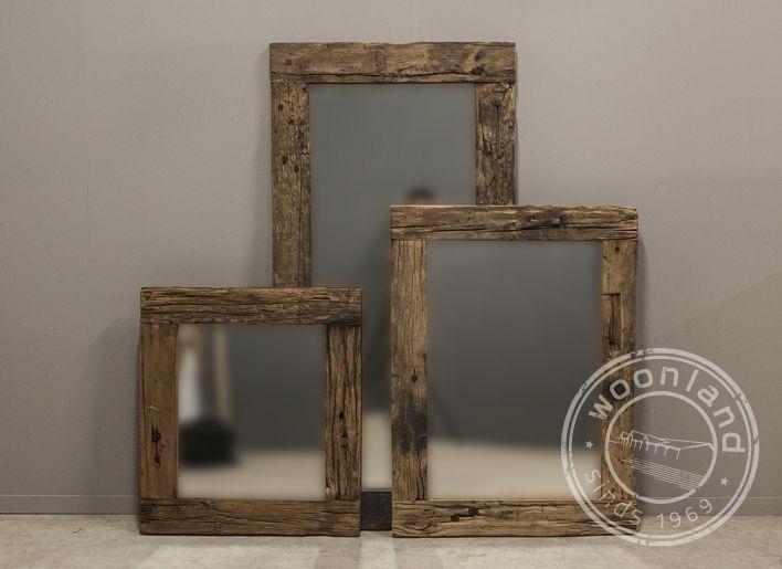 Oud houten spiegel roots s | Woonland
