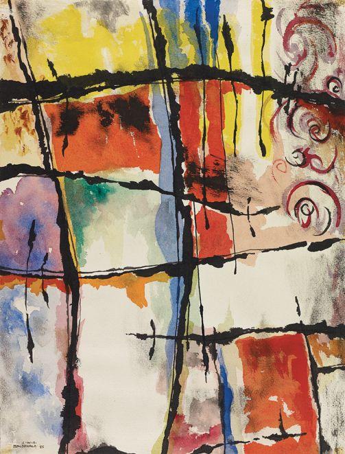 Jock Macdonald - From a Riviera Window, 1955