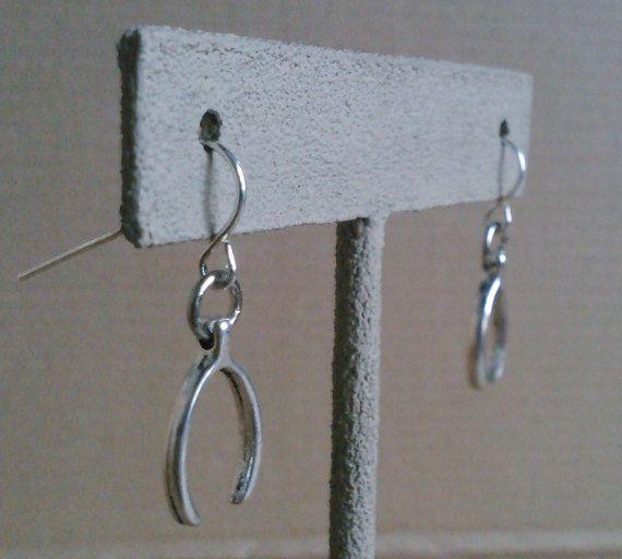 Wishbone earrings by AbandonedWarehouse on Etsy