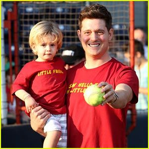 Michael Buble holds his cutie pie son Noah in his arms while attending the Brendan Gallagher Shriners Hospital for Kids Charity Baseball Game on Wednesday (August 12) in Vancouver, Canada. The 39-year-old singer was also joined at the event by his pregnant wife Luisana Lopilato. PHOTOS: Check out the latest pics of Michael Buble Michael