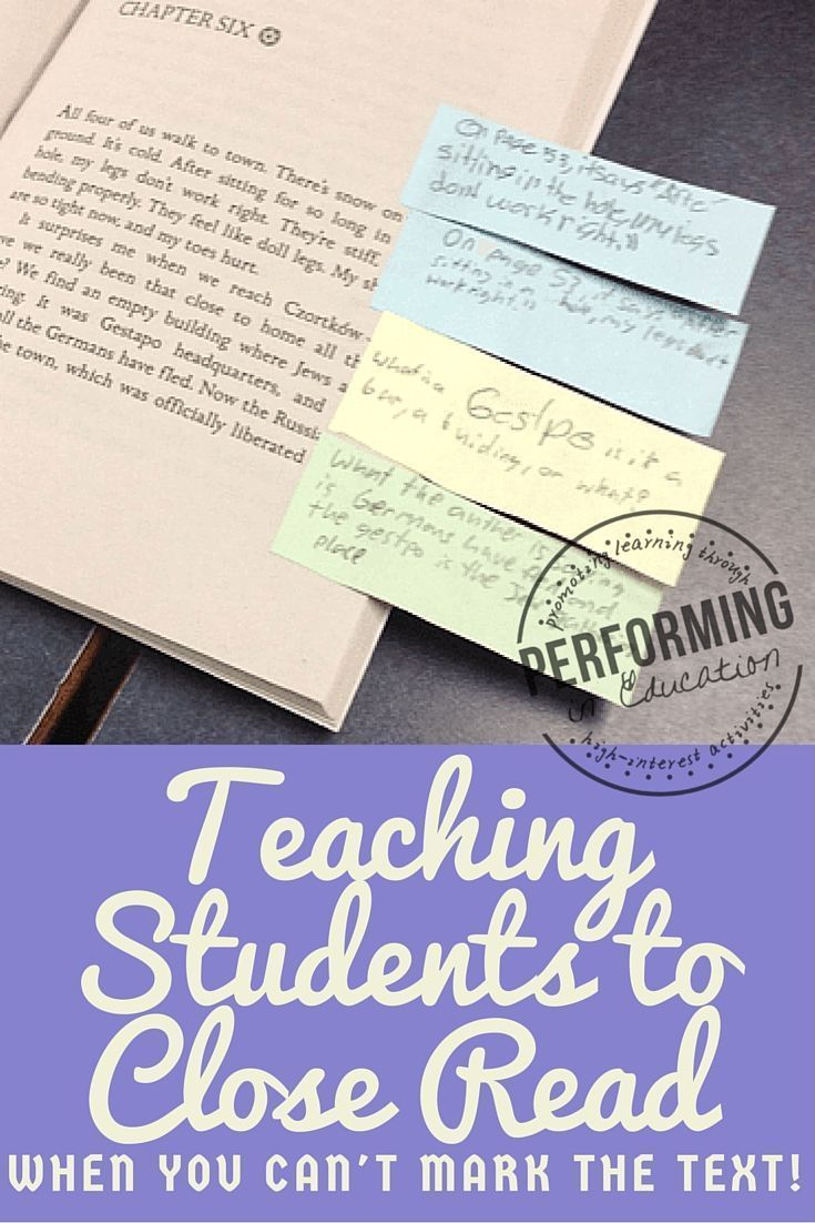 Great ideas for teaching closing reading when your students are reading novels!