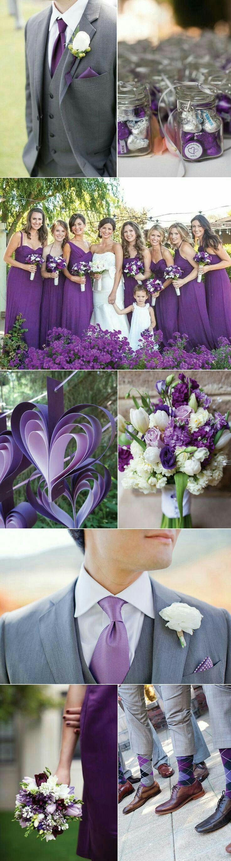 Violet lavendar and creme wedding pallette
