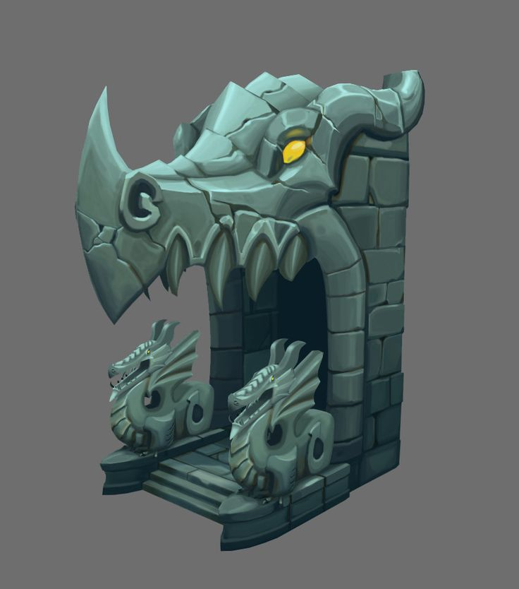 ArtStation - Dragon Dungeon Entrance, Stephanie Coleman