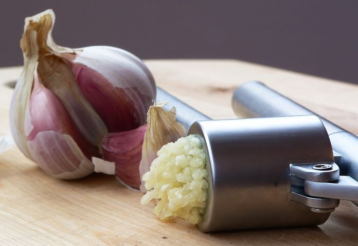 Add garlic immediately to a recipe if you want a light taste of garlic, and at the end of the recipe if you want a stronger taste of garlic.
