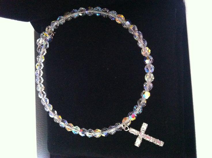 Bracciale cristalli swarovsky e croce