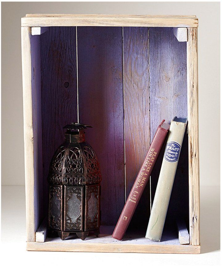 Reclaimed Wood Crate - Purple