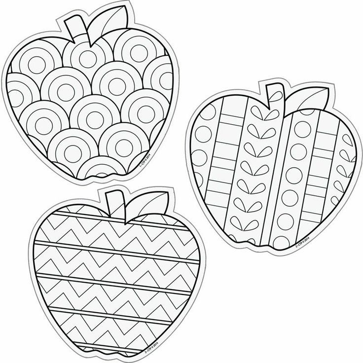 Color Me 6 Designer Cut Outs Apples: