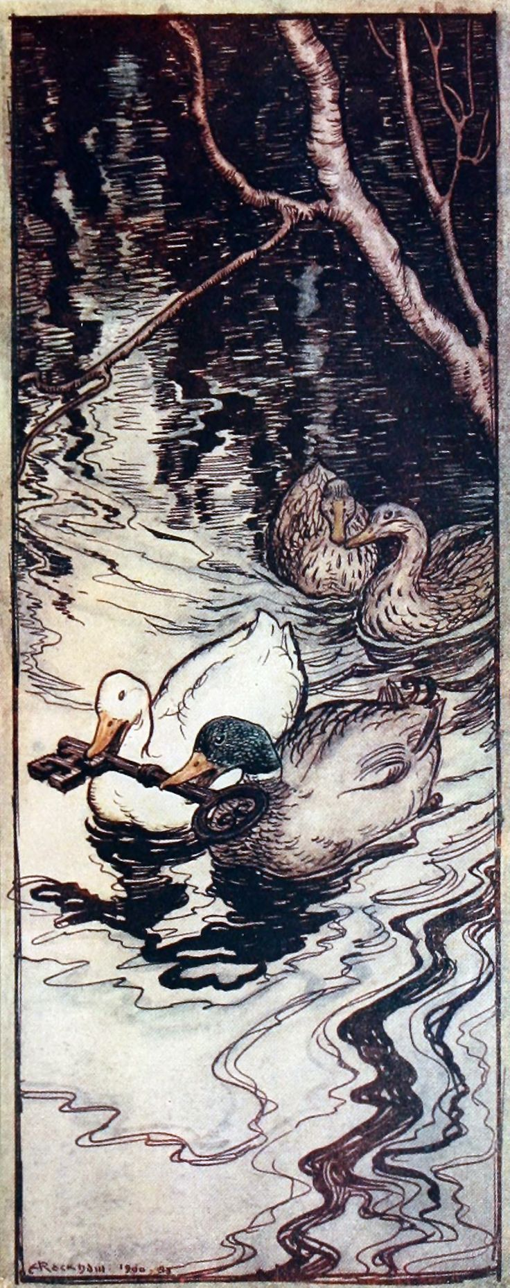 """From 'The Four Clever Brothers'. """"Grimm's Fairy Tales"""" illustrated by Arthur Rackham, 1909"""