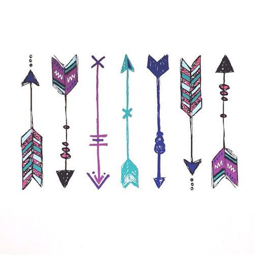 arrow tattoos bohemian arrow temporary tattoos 7 door happytatts