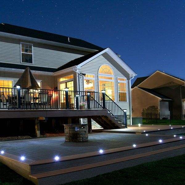 Flush Led Riser Light By Lmt Mercer Led Deck Lighting Decks Backyard Deck Lighting