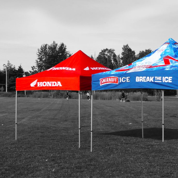 Expand A Sign Branded Gazebos are quick to set up. Fabric is waterproof, fire retardant and UV protected. Also available with full and half walls.