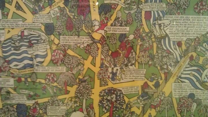 Peter Pan map of Kensington garden