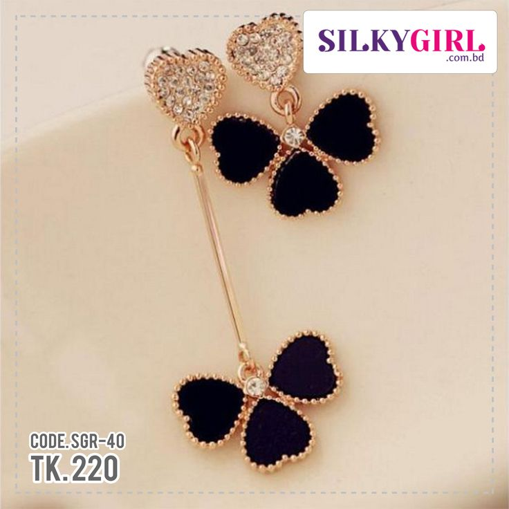 Gold Color Love Heart Stud Earrings  Description:  Item Type:Earrings Earring Type:Stud Earrings Model Number: SGR-40 Material:Acrylic & Zinc Alloy Style:Trendy Back Finding:Push-back Gender:Women Colour: Black Weight:5.4g Origin: China