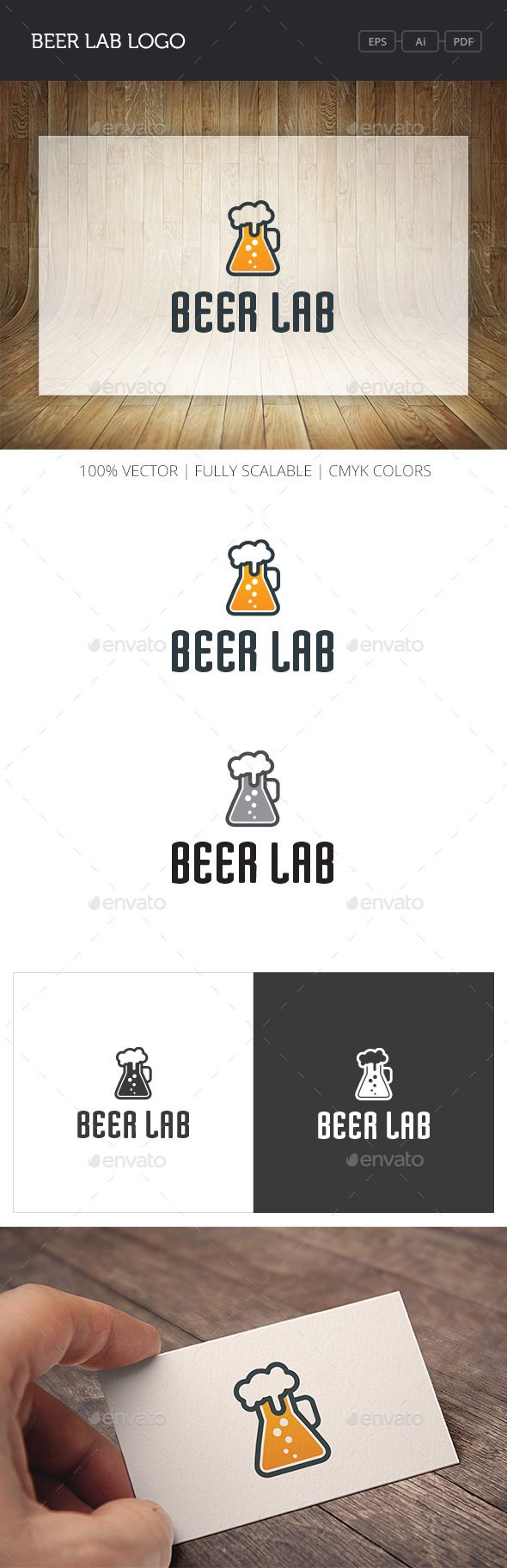 Beer Lab Logo Design Template Vector #logotype Download it here: http://graphicriver.net/item/beer-lab-logo/11064020?s_rank=456?ref=nexion