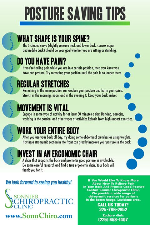 Save your posture with these tips from Sonnier Chiropractic Clinic! #Tips #Posture #GoodToKnow #Health