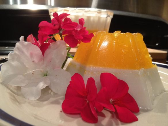 Mandarin and Coconut Jelly with Tropical Breezes