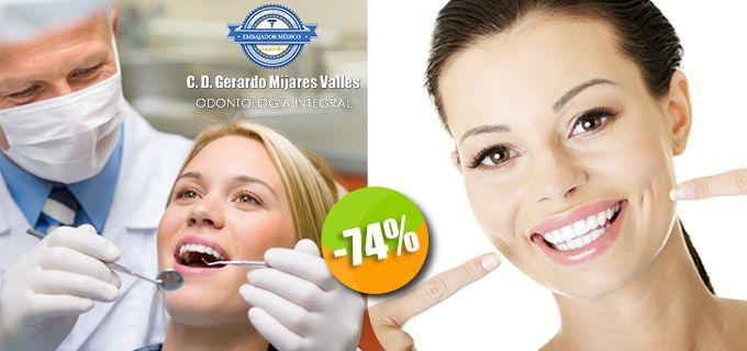 Dr. Gerardo Mijares Valles - $250 en lugar de $950 por 1 Diagnóstico con Cámara Intraoral + 1 Limpieza Dental con Ultrasonido y Pasta Profiláctica ó 1 Obturación con Resina con Nanorelleno Click http://cupocity.com/