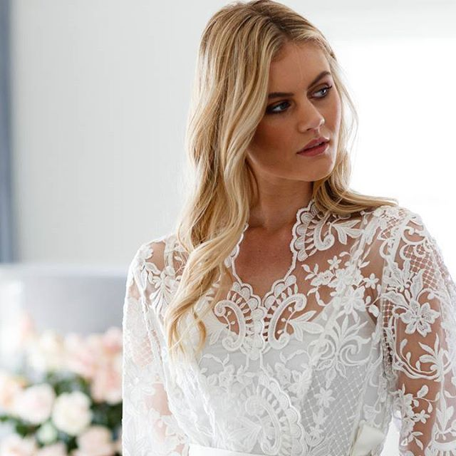 A beautiful bridal robe is the perfect touch to your wedding morning. Get ready in style in the stunning 'Celeste' Lace Bridal robe 💗 LR xx