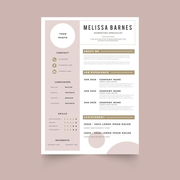 Exemple De Cv Moderne 2019 Desain Cv Desain Resume Cv Kreatif