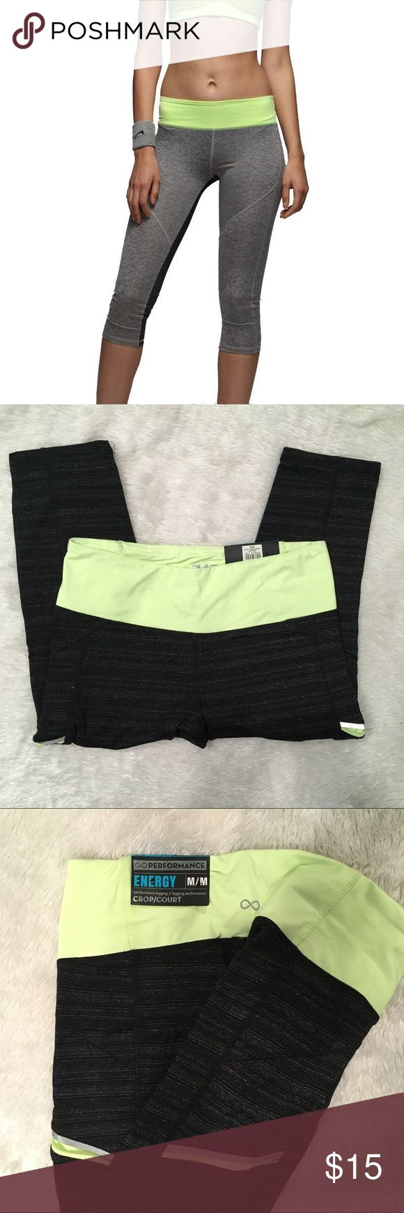 NWT Energy Crop Performance Leggings Size Medium Brand new with tags! Very cute workout leggings. (First picture is closest photo I found online, actual leggings are pictured) MSRP is $24.99 Size Medium. Length measures 27 inches long. Pure Energy Pants Leggings