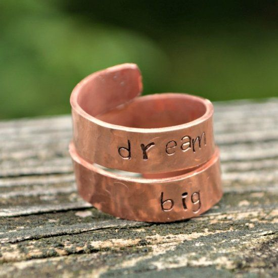 This stamped wrap ring was simple to make with the help of the Dremel Micro 8050.