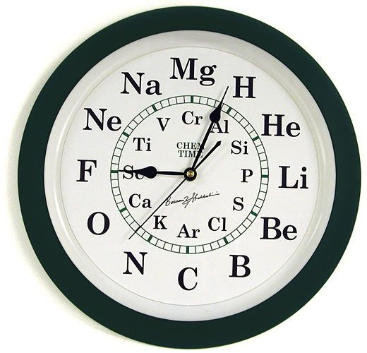 Chem Time Clock. This would be really confusing when drunk...