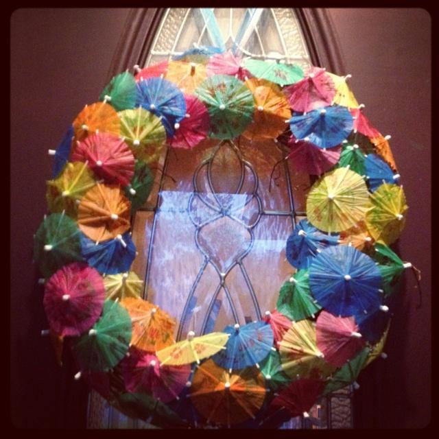 My version of the umbrella wreath.