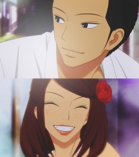 He doesn't need to blush or be awkward.  Ryu knows that's his girl, and he's just gonna marry her some day.