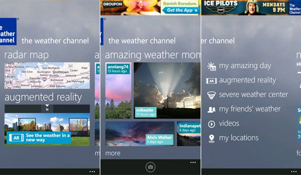 Nokia launches Lumia version of Weather Channel App in US/UK.