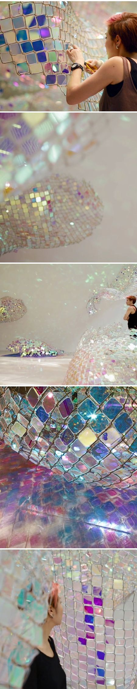 """soo sunny park - installation of """"unwoven light"""" 2013 inspired G.Levin / Touch of Eden 6 http://fqoto.com/ss2014-072-touch-of-eden-6.html"""