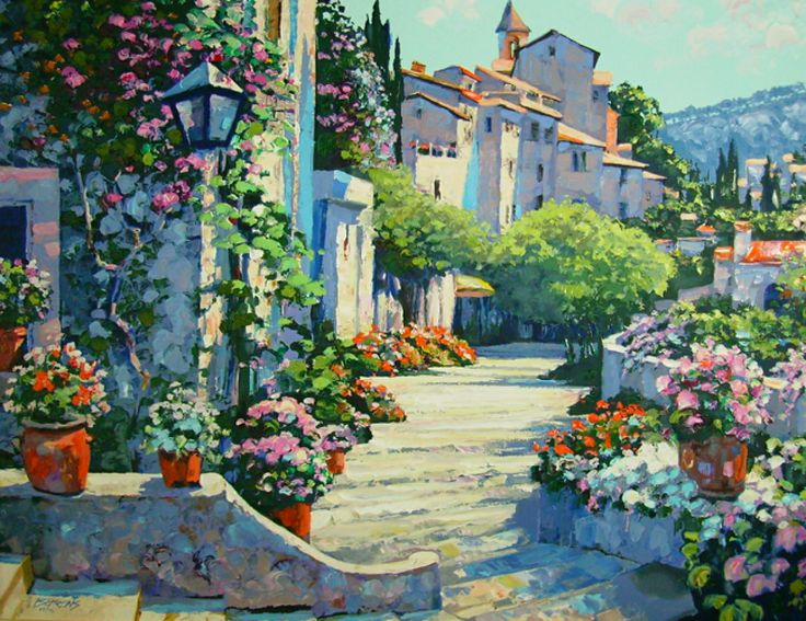 Old World Charm Canvas by Howard Behrens