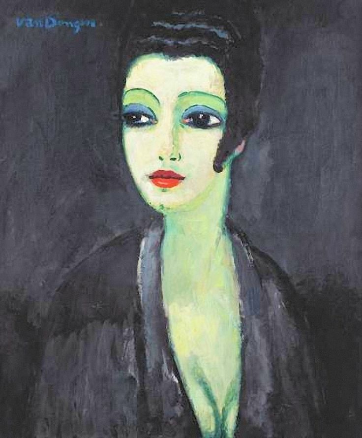 Tamara, The Painter's Muse, 1913 by Kees Van Dongen (Dutch 1877-1968)