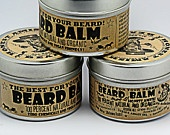 Honest Amish Beard Balm! Men's leave-in beard balm and tamer, perfect for the hipster beard scruff guy to the long-flowing beard-o. Neat gifting.