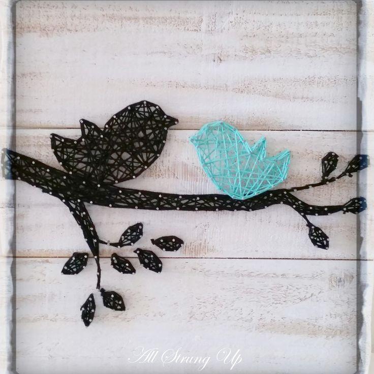 Bird String art all strung up