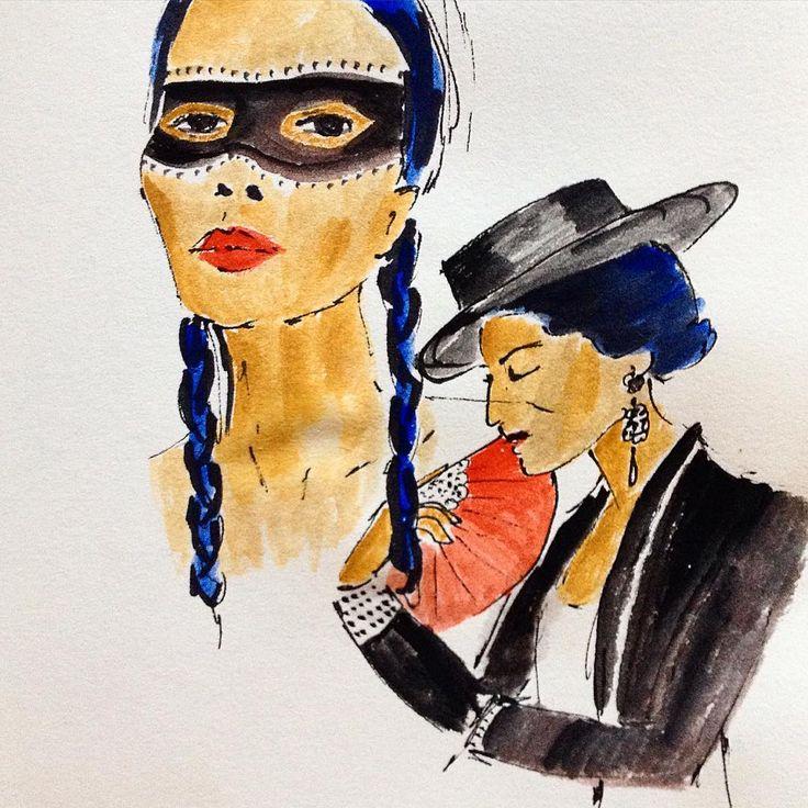 #spanish #drawing #watercolor