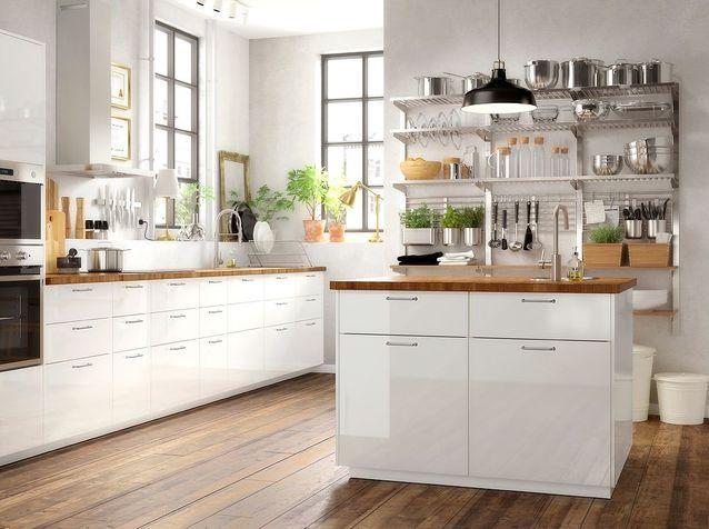 Cuisine Ikea Les Plus Beaux Modeles Du Geant Suedois Elle Decoration En 2020 Cuisine Ikea Cuisine Moderne Meuble Haut Ikea