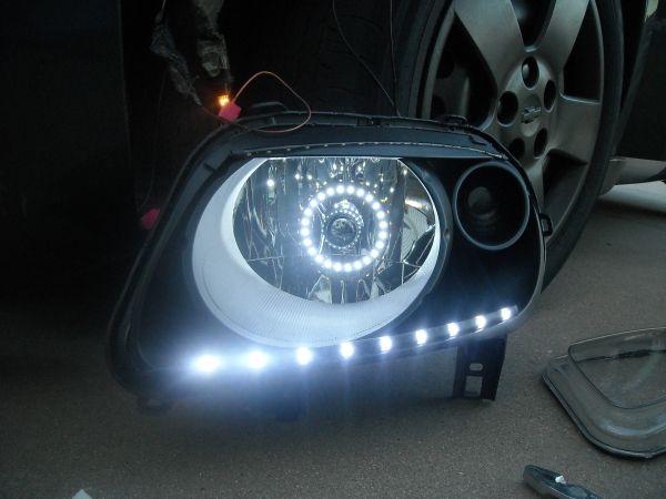 Custom Headlights w/ LED Angel Eyes & LED Audi DRL - Chevy HHR Network