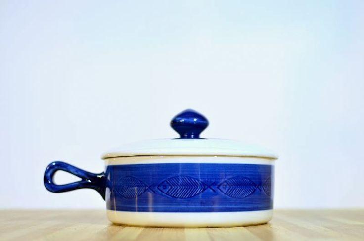 Vintage Koka-Blue Rorstand Sweden Ceramic Covered Casserole Dish 1.5 Quart Baking Dish by VintageRescuer on Etsy