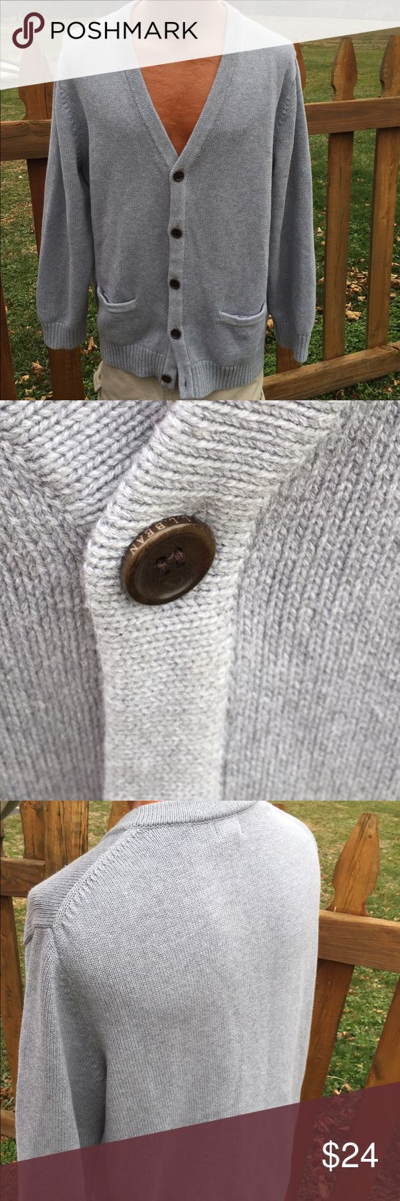 L.L. Bean Mens Cardigan Sweater Size XL Size XL. Super gently preowned. 100% cotton. Be sure to view the other items in our closet. We offer both women's and Mens items in a variety of sizes. Bundle and save!! Thank you for viewing our item!! L.L. Bean Sweaters Cardigan