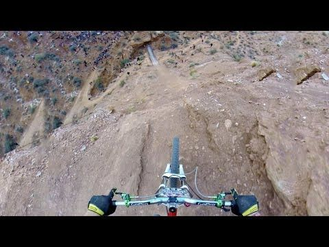 Watch the video here: | Amazing Freeride Mountain Biker POV May Cause Barfing