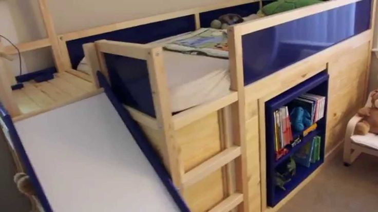 17 best images about kids room ikea bunk bed on pinterest ikea hacks tod - Structure futon ikea ...
