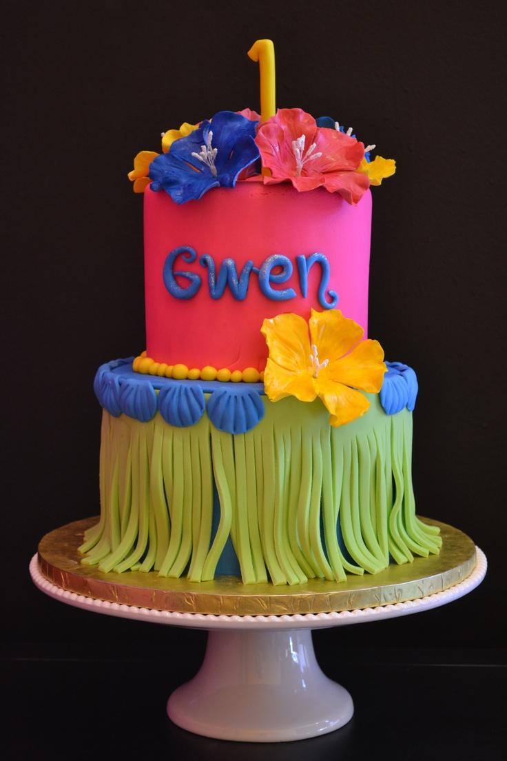 Hawaiian Cake Gwen 1st Birthday Azucar Rococo Cake