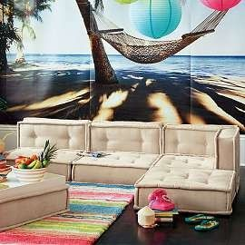 Been eyeballing this modular sofa set from PBTeen for years now.  Intentions are for my girls teen lounge.