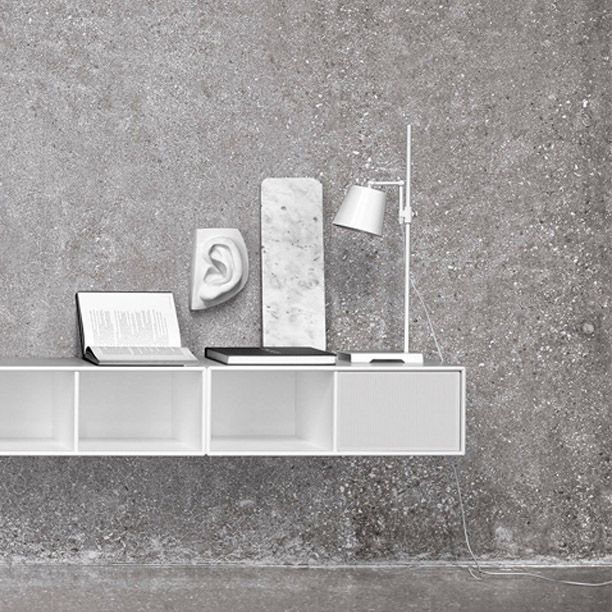 Montana Sound in white. Great sound. Visual silence. #montana #furniture #sound #system