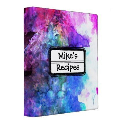 Fabulous Purple Watercolor Abstract Binder - home gifts ideas decor special unique custom individual customized individualized