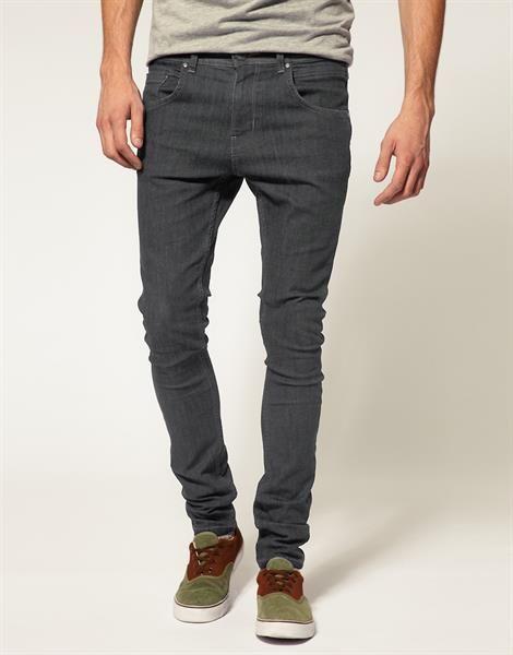 Где купить узкие мужские джинсы серые