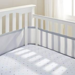 Breathable Baby® Solid Mesh Crib Liner - White : Target
