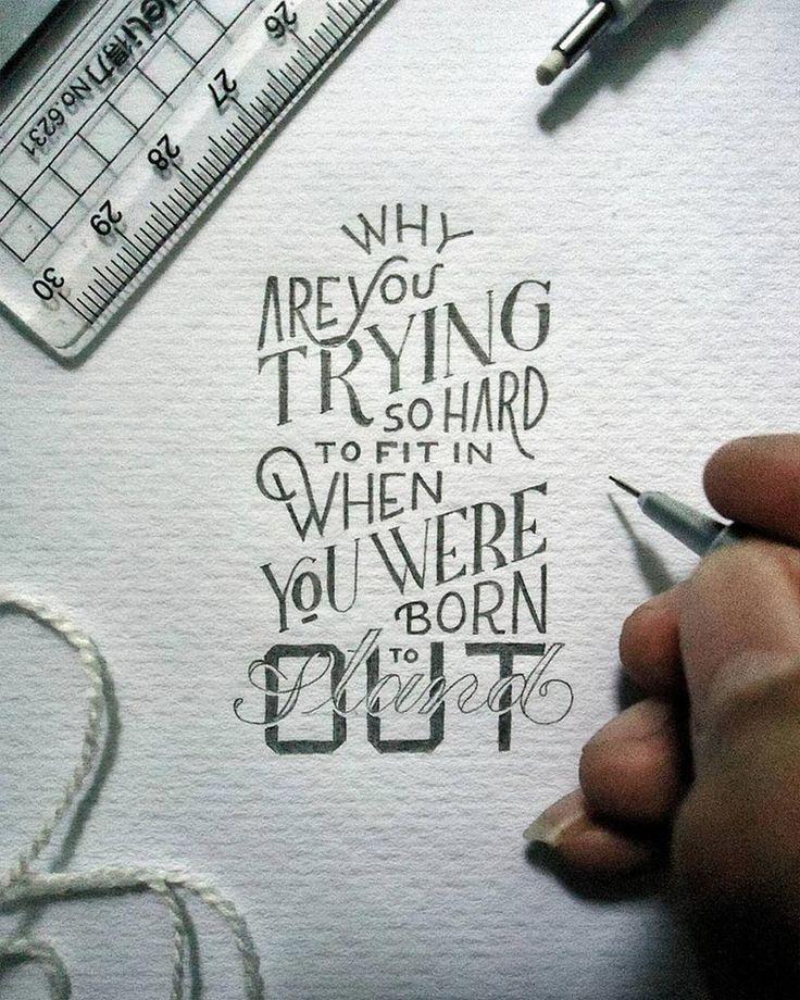 Ganz kleine weise Worte - Hand Lettering von Dexa Muamar https://www.langweiledich.net/ganz-kleine-weise-worte/