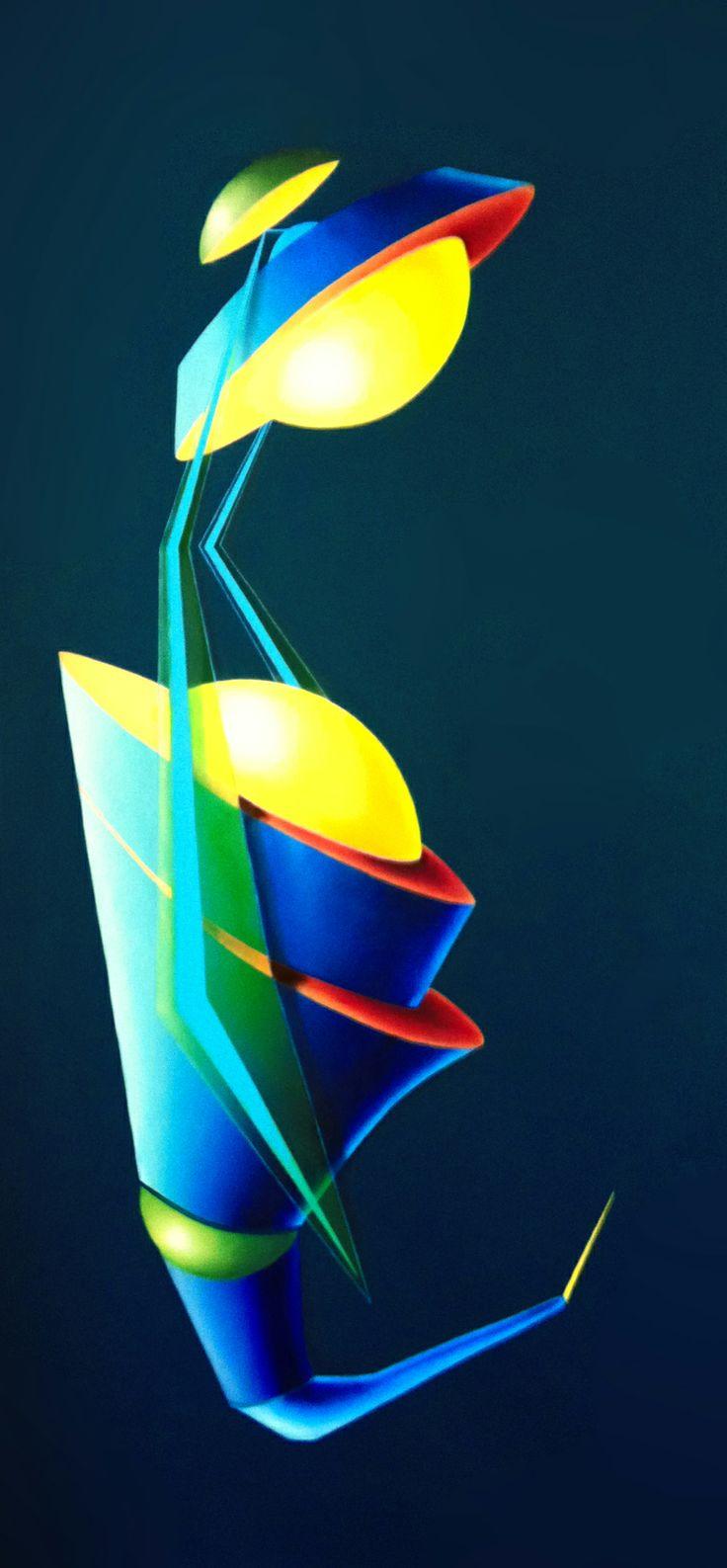 Sting, 2011, olio e acrilico su tela, 130x60 cm - Ignazio Mazzeo #art #painting #ignaziomazzeo #colours #nature